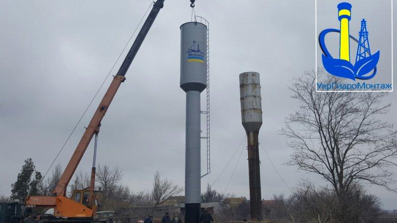Водонапорная башня автомат набора воды